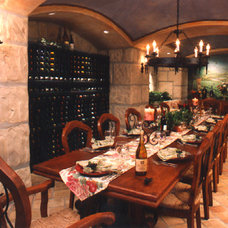 Traditional Wine Cellar by James LeCron