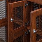 Custom kitchen wine cabinet modern wine cellar dallas by wineracks - Contemporary cabinet knobs wine locker ...