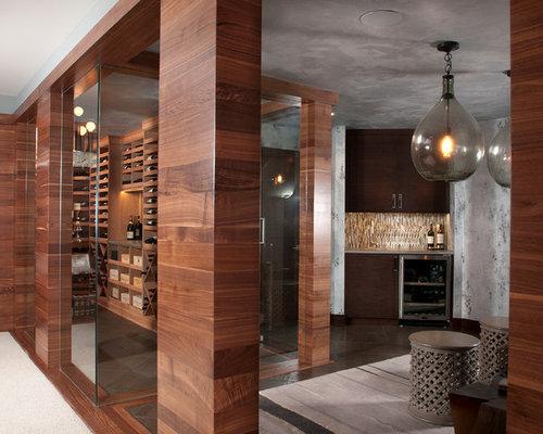 Gray Paint Wine Cellar Design Ideas Renovations Photos