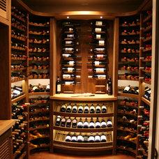 Traditional Wine Cellar by Savante Wine Cellars