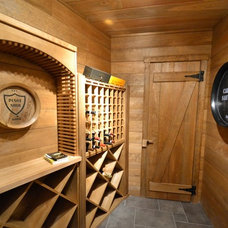 Rustic Wine Cellar by Benhoff Builders Inc