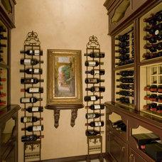 Traditional Wine Cellar by Bess Jones Interiors