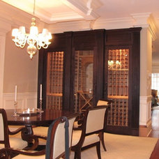Traditional Wine Cellar by Birom Cabinetry LLC
