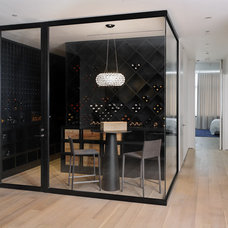 Contemporary Wine Cellar by d'apostrophe design, inc.