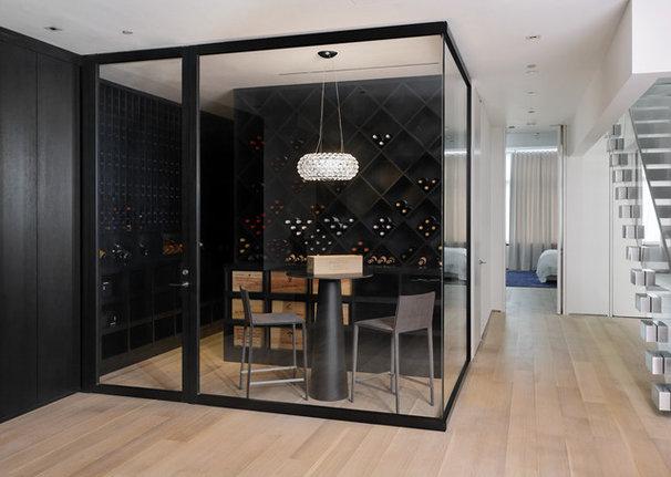 Contemporary Wine Cellar by d'apostrophe design, inc.