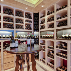 Traditional Wine Cellar by David Johnston Architects