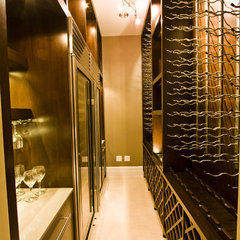contemporary wine cellar by DIVA INTERIOR CONCEPTS