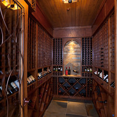 Traditional Wine Cellar by Hendricks Architecture