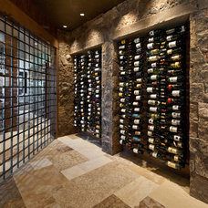 Transitional Wine Cellar by Jaffa Group Design Build