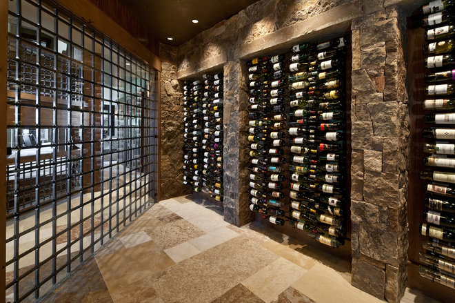 Traditional Wine Cellar by Jaffa Group Design Build
