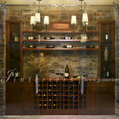 contemporary wine cellar by JJ Interiors