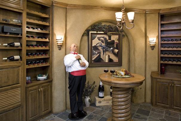 Traditional Wine Cellar by John Kraemer & Sons