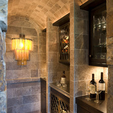 Rustic Wine Cellar by John Kraemer & Sons