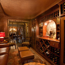 Traditional Wine Cellar by Natural Domain Interiors, llc