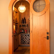 Eclectic Wine Cellar by Real Carriage Door Company