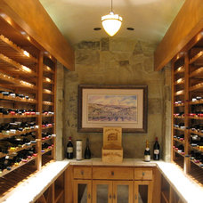 Contemporary Wine Cellar by Quality Custom Craftsman