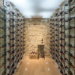 Exempel på en modern vinkällare