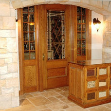 Traditional Wine Cellar by Rittenhouse Builders