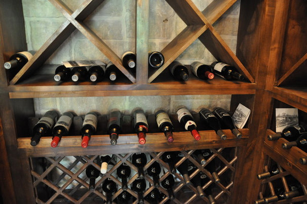 Traditional Wine Cellar by Sanders Architecture & Design