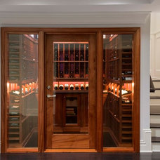 Traditional Wine Cellar by Steven Mueller Architects, LLC