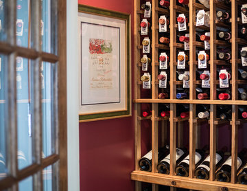 Wine Room that once was a closet.