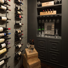 Contemporary Wine Cellar by The Consulting House Inc.