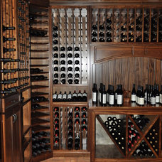 Traditional Wine Cellar by Van Nostrand Cabinets