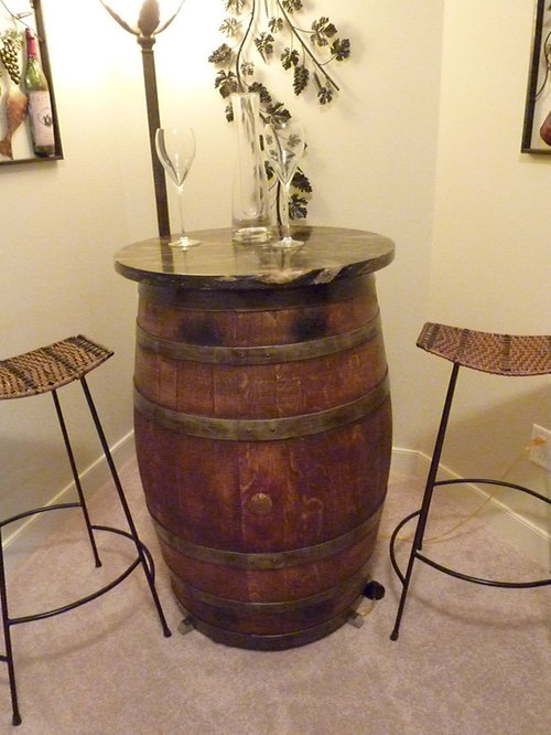 Wine Barrel Bar Table Home Design Ideas Pictures Remodel