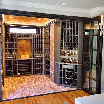 WIne Room with folding doors
