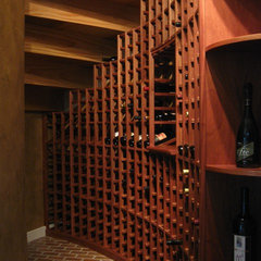 traditional wine cellar by Trade Mark Design & Build