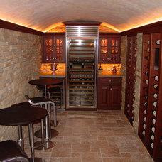 Contemporary Wine Cellar by Trade Mark Design & Build