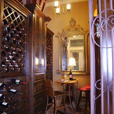 Mediterranean Wine Cellar by Stadler Custom Homes