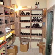 Traditional Wine Cellar by Collinas Design & Construction