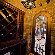 Eclectic Wine Cellar by Collinas Design & Construction