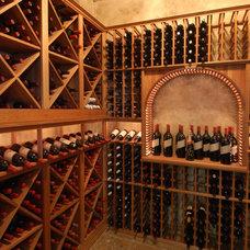 Mediterranean Wine Cellar by Veranda Homes
