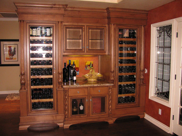 Traditional Wine Cellar by Lindsay Taylor Design
