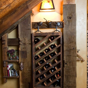 Design ideas for a rustic wine cellar in Denver.