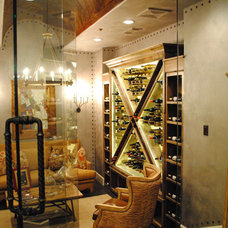 Eclectic Wine Cellar by Venetian Homes