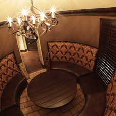 Traditional Wine Cellar by Laura Kehoe Design