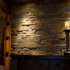 Eclectic Wine Cellar by Natural Stone Veneers International, Inc.