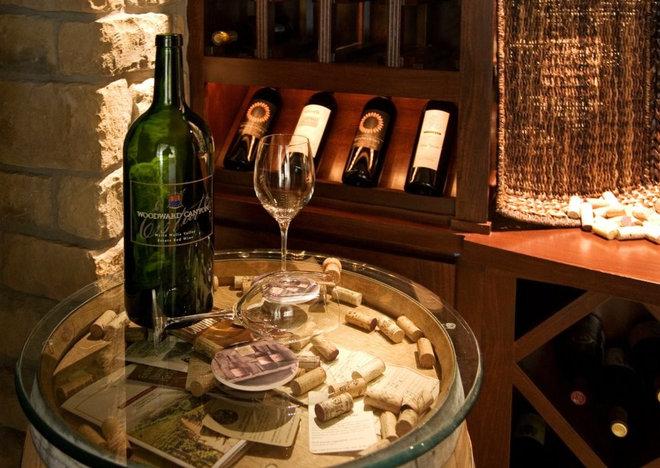 Mediterranean Wine Cellar by Signature Custom Homes