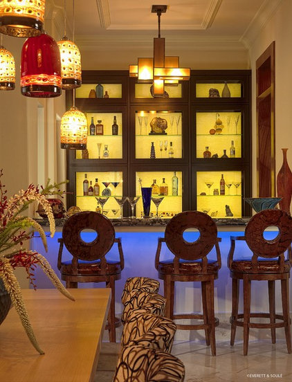 Asian Wine Cellar by Busby Cabinets