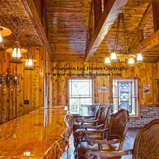 Traditional Wine Cellar by Wisconsin Log Homes Inc