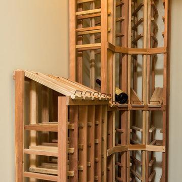 Wooden Basement Bar
