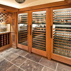 traditional wine cellar by Woodmeister Master Builders