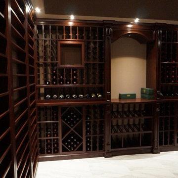 Yang- Dark Wood Wine Cellar