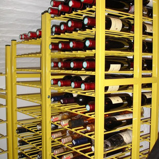 Contemporary wine cellar in Surrey.