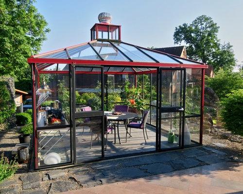 moderner wintergarten mit betonboden bilder ideen houzz. Black Bedroom Furniture Sets. Home Design Ideas