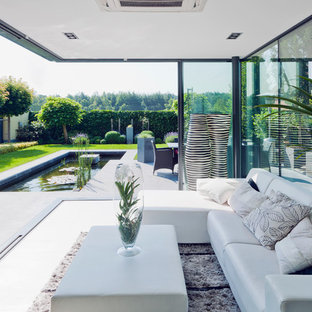 Inspiration For A Huge Modern Slate Floor And Gray Floor Sunroom Remodel In  Frankfurt