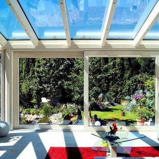 Moderner Wintergarten als Wohnzimmer